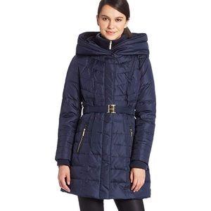 Kensie Long Puffer Jacket with Oversized Hood